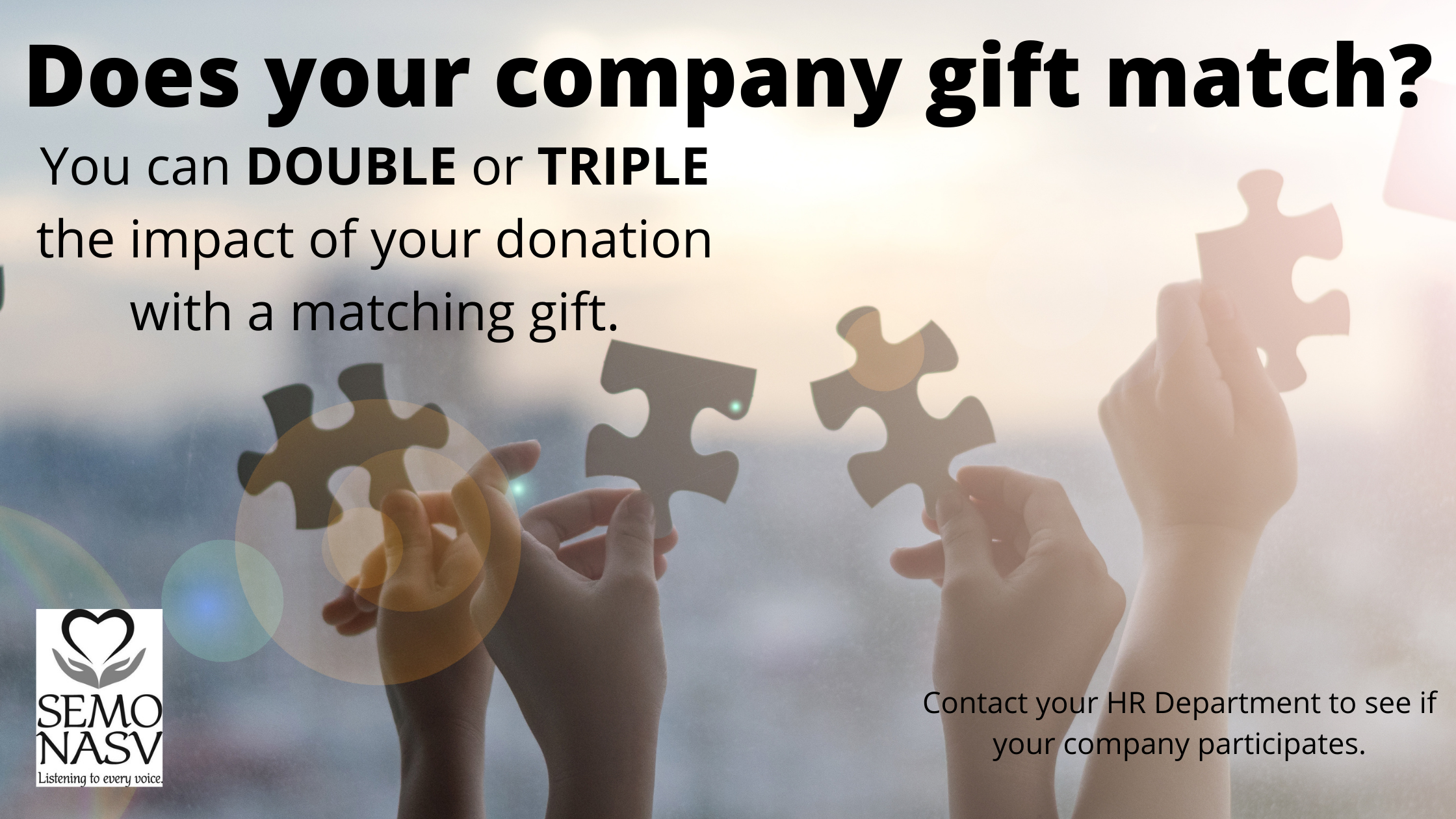 Does your company gift match? Ask your HR department to find out more.